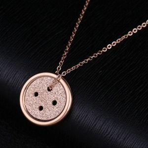 Jewelry - NWT Rose Gold Sparkle Button Fashion Necklace